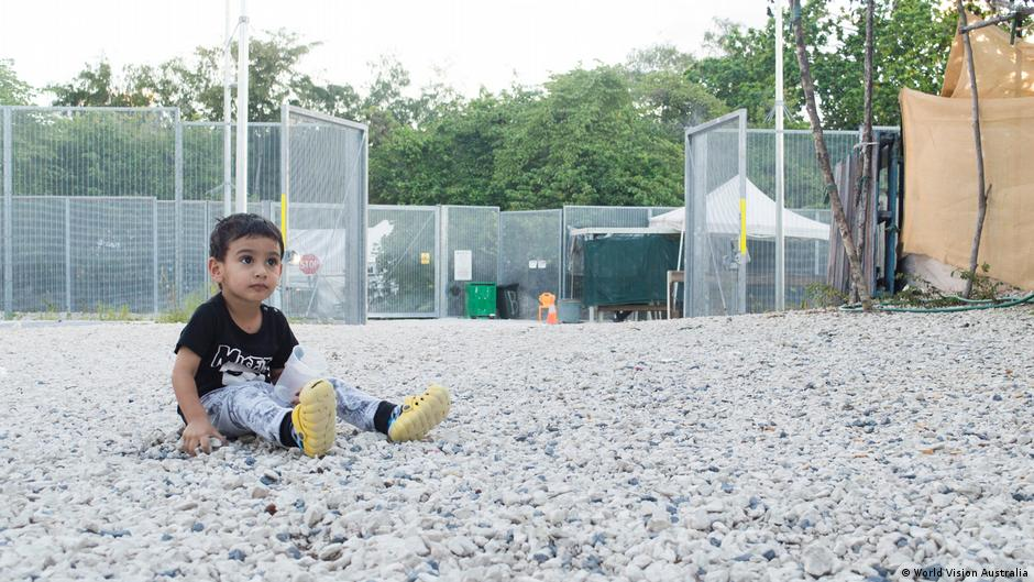 Two year old George, who was born in detention on Nauru