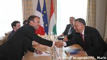 Emmanuel Macron und Viktor Orban beim EU Gipfel in Sofia