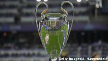 UEFA-Champions-League-Trophee bei der Super Cup-Finale Real Madrid v Atletico Madrid