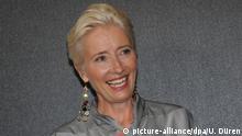 29.06.2018 Bayern, München: Die britische Schauspielerin und Drehbuchautorin Emma Thompson lächelt vor der Verleihung. Thompson wird im Rahmen des Filmfest München mit dem CineMerit Award ausgezeichnet. Foto: Ursula Düren/dpa | Verwendung weltweit