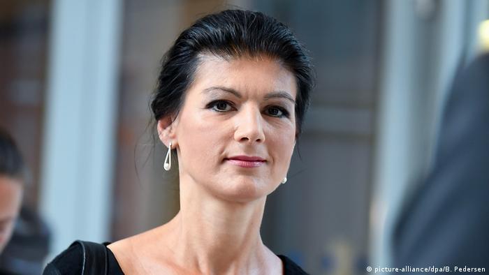 Sahra Wagenknecht - Fraktionsvorsitzende der Partei Die Linke (picture-alliance/dpa/B. Pedersen)
