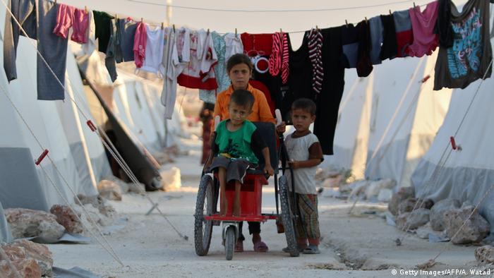 Syrien Flüchtlingslager in Idlib (Getty Images/AFP/A. Watad)
