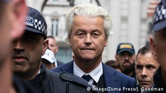 Großbritannien London - Geert Wilders (Imago/Zuma Press/J. Goodman)