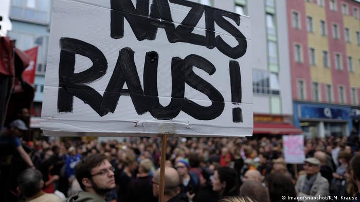 Protesto contra xenofobia em Berlim