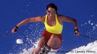 Skifahrerin Skihaserl
