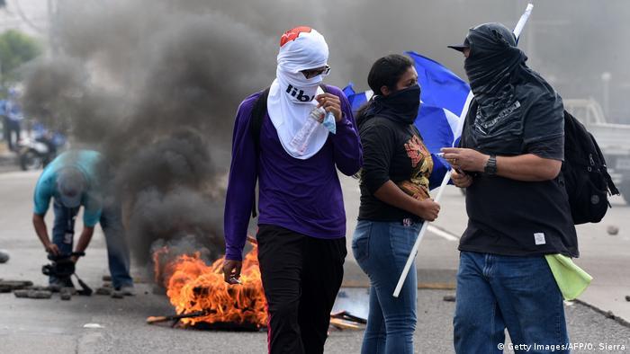Honduras Tegucigalpa Proteste gegen Regierung.