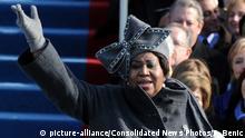 USA Aretha Franklin beim Amtsantritt von Barack Obama