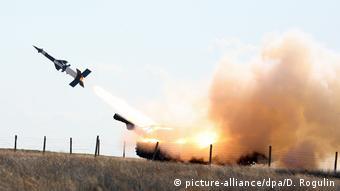Waffensystem: Flugabwehrrakete S-400 Triumf / möglicherweise eine RM-75 (picture-alliance/dpa/D. Rogulin)