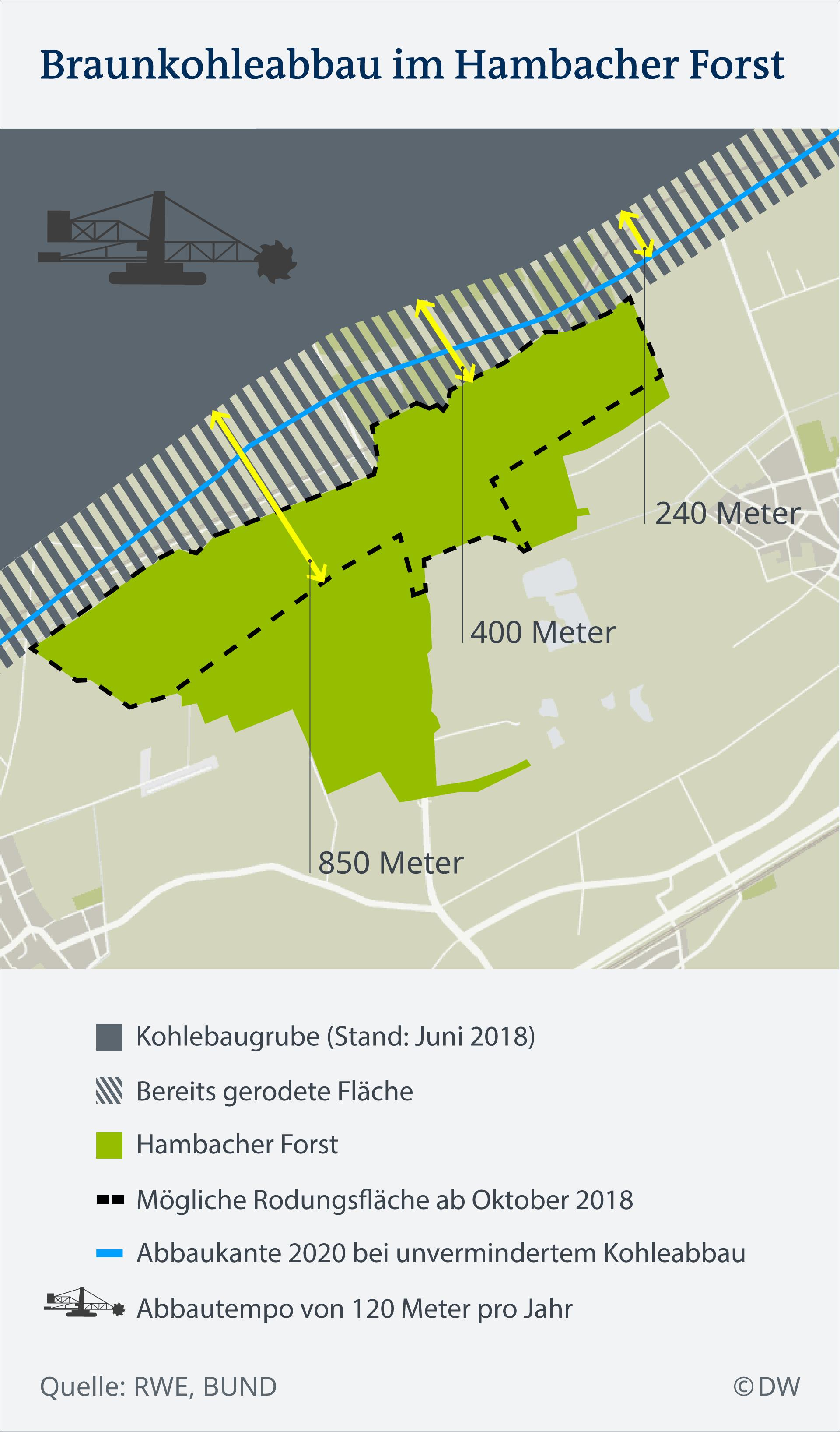 Infografik Hambacher Forst Braunkohle Rodung DE