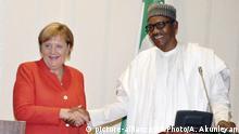 Nigeria Besuch der Kanzlerin Merkel