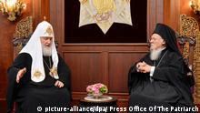 Türkei, Istanbul: Patriarch Kirill und Patriarch Bartholom im Gespräch
