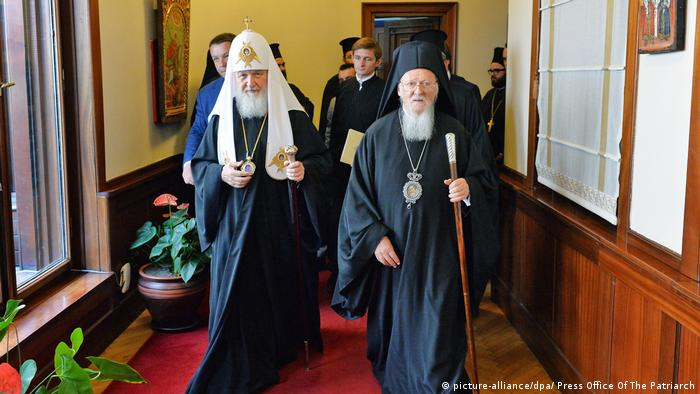 Istanbul: Patriarch Kirill and Patriarch Bartholomew (picture-alliance/dpa/ Press Office Of The Patriarch)