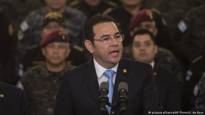 In front of military officers, President Jimmy Morales announced an end to the mandate of the UN-sponsored CICIG commission.
