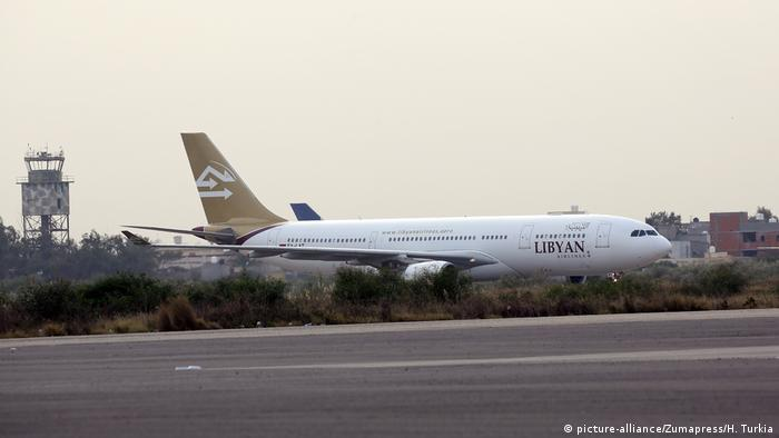 Libyan Airlines plane lands at Tripoli