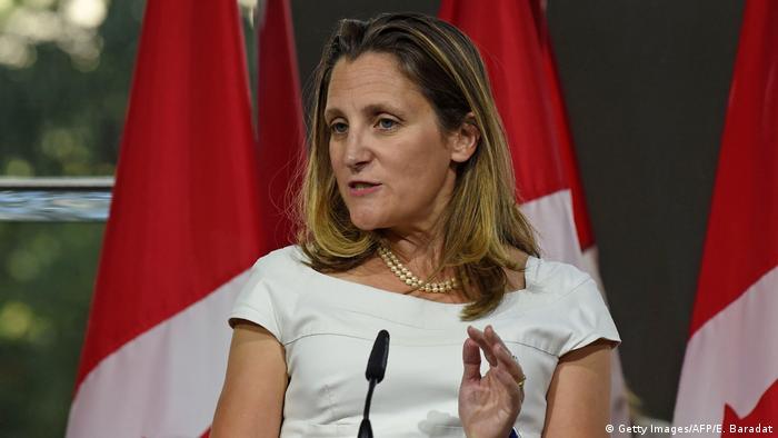 Canadian Foreign Affairs Minister Chrystia Freeland
