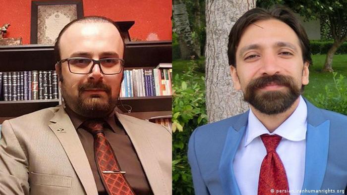 فرخ فروزان (راست) و پیام درفشان، دو وکیل بازداشتی