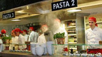 Vapiano в Берлине - тут готовят пасту