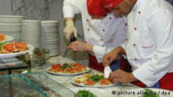Vapiano - еда готовится на глазах у гостей