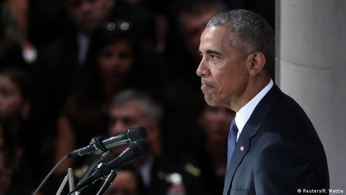 USA Beisetzung Senator John McCain Rede Barack Obama (Reuters/R. Wattie)