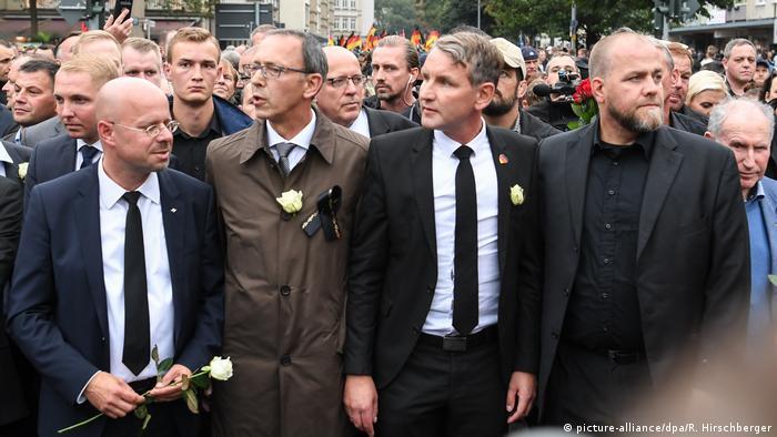 Deutschland Rechte Demo in Chemnitz
