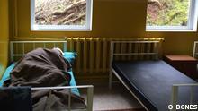 Zimmer der Psychiatrie in Kurilo bei Sofia, Bulgarien