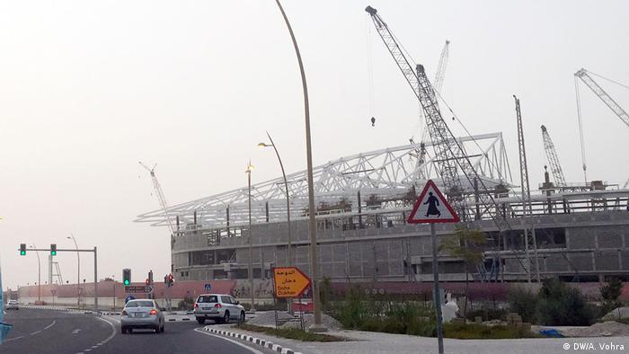 Baustelle des Al-Reyan-Stadions in Katar