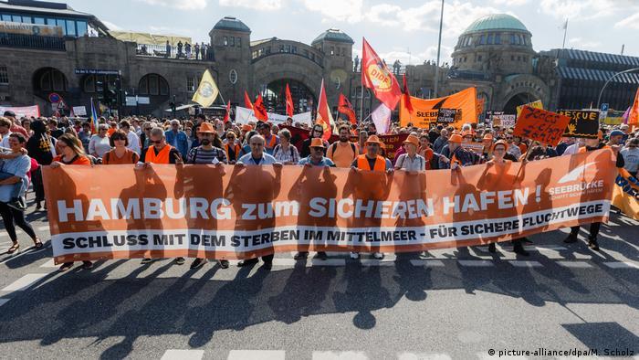 Deutschland: Demonstration für Seenotrettung in Hamburg