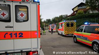 Emergency services in Weingarten after hornet attack leaves 18 people injured