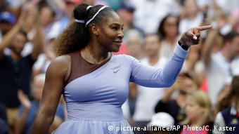 USA Tennisspielerin Serena Williams bei den US Open in New York