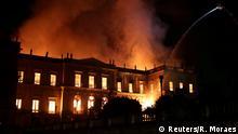 Brasilien Großbrand im Nationalmuseum in Rio de Janeiro