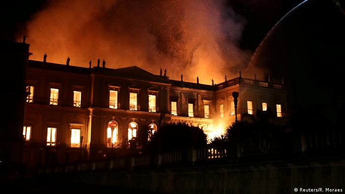 The fire at Rio's National Museum raged for five hours
