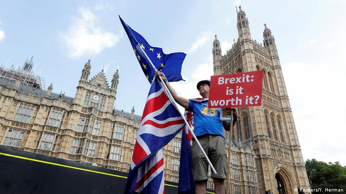 Großbritannien Brexit Gegner in London (Reuters/Y. Herman)