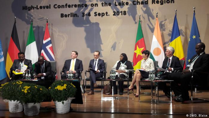 Participants in a debate at the Lake Chad region conference in Berlin