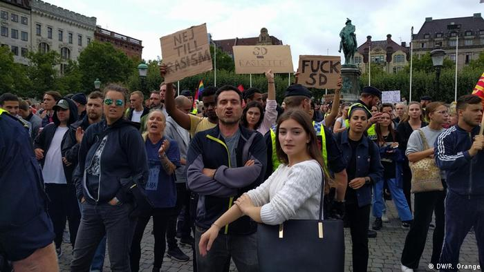 A group of protesters in Malmo