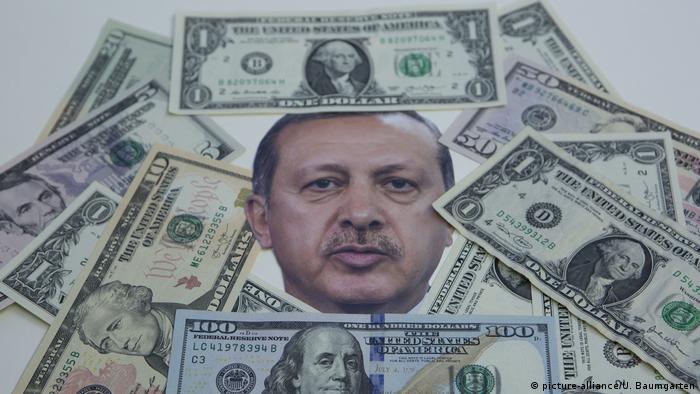 Symbolbild - Türkische Währung und Erdogan