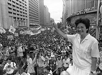 کورازون آکینو در دوران مبارزه علیه رژیم فردیناند مارکوس