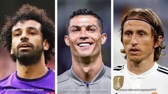 Bildkombo - Mohamed Salah, Cristiano Ronaldo, Luka Modric