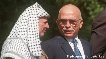 USA, Washington: Arafat und Hussein im Jahr 1996