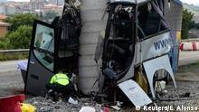 Spanien Aviles - Busunglück