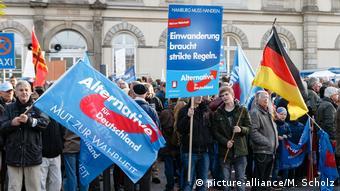 Демонстрация сторонников АдГ в Гамбурге.