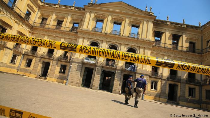 Brasilien Rio de Janeiro - Brasilianisches Nationalmuseum brennt ab (Getty Images/B. Mendes)