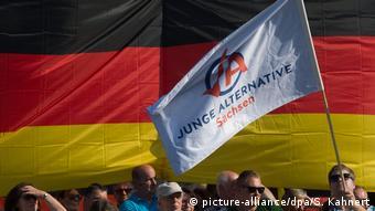 Στιγμιότυπο από παλαιότερη κινητοποίηση της AfD στη Δρέσδη, πρωτεύουσα της Σαξονίας