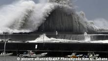 Typhoon Jebi, Japan (picture-alliance/dpa/AP Photo/Kyodo News/I. Sakano)