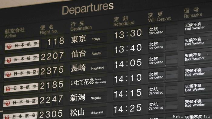 Typhoon Jebi causes Osaka airport shutdown (picture-alliance/T. Sato)