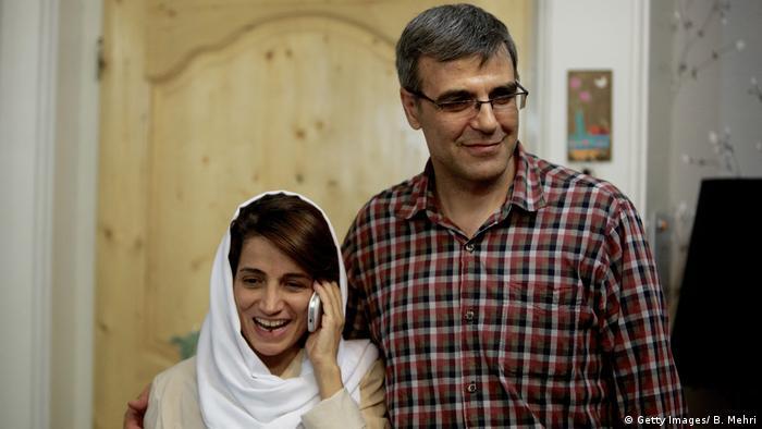 تصویری از گذشته: رضا خندان و نسرین ستوده در سال ۲۰۱۳ میلادی