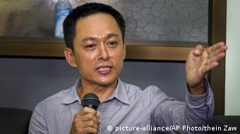 Myanmar | Journalist Kyaw Min Swe (picture-alliance/AP Photo/thein Zaw)