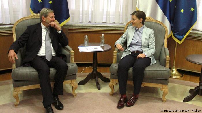 Johannes Hahn - Ana Brnabic treffen sich in Belgrad