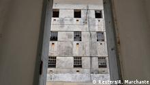 Barred windows are seen inside the former political prison in Peniche, Portugal July 31, 2018. Picture taken July 31, 2018. REUTERS/Rafael Marchante
