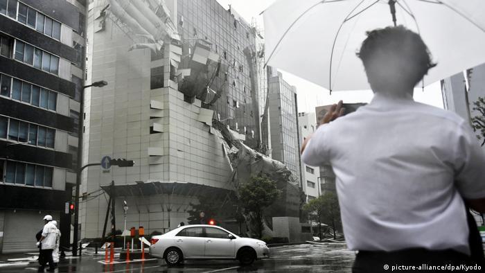 Japan, Osaka: Unwetter und Taifun Jebi