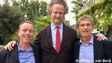 Donnersmarck mit DW KINO Moderatoren Scott Roxborough und Hans Christoph von Bock